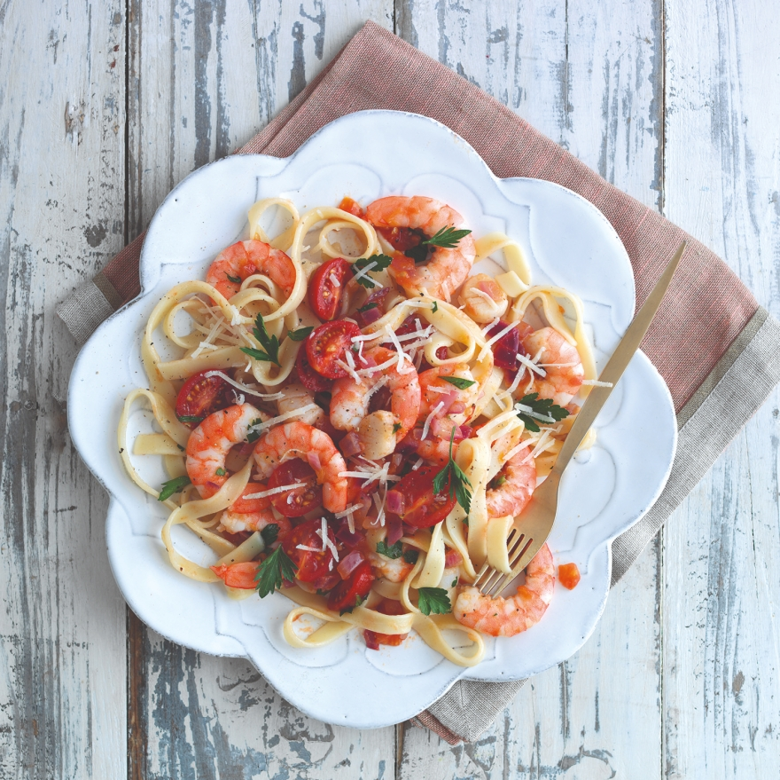 British Tomato and Seafood summer pasta